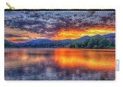 Blue Ridges Lake Junaluska Sunset Great Smoky Mountains Art Carry-all Pouch