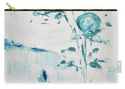 Blue Roses On A Table Carry-all Pouch