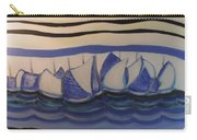 Blue Sailing Boats In The Harbour Carry-all Pouch