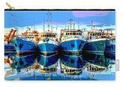 Blue Shrimp Boats Carry-all Pouch