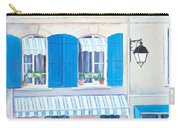 Blue Shutters Arles France Carry-all Pouch
