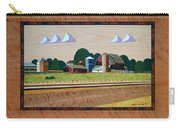Blue Silo-marquetry Carry-all Pouch
