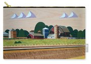 Blue Silo-marquetry-image Carry-all Pouch