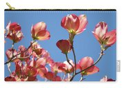 Blue Sky Art Prints Pink Dogwood Flowers 16 Dogwood Tree Art Prints Baslee Troutman Carry-all Pouch