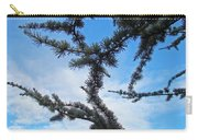 Blue Sky Art Prints White Clouds Conifer Pine Branches Baslee Troutman Carry-all Pouch