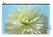Blue Sky Art White Dahlia Flower Floral Prints Baslee Troutman Carry-all Pouch