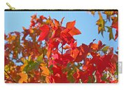 Blue Sky Autumn Art Prints Colorful Fall Tree Leaves Baslee Carry-all Pouch