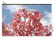 Blue Sky Clouds Landscape 7 Pink Dogwood Tree Baslee Troutman Carry-all Pouch