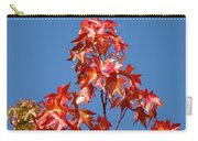 Blue Sky Fall Tree Leaves Landscape Art Prints Baslee Troutman Carry-all Pouch