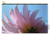 Blue Sky Floral Art Print Pink Dahlia Flower Baslee Troutman Carry-all Pouch