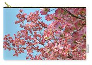 Blue Sky Floral Art Print Pink Dogwood Tree Flowers Baslee Troutman Carry-all Pouch