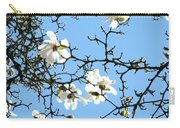 Blue Sky Floral Art White Magnolia Tree Carry-all Pouch