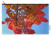Blue Sky Red Autumn Leaves Sunlit Orange Baslee Troutman  Carry-all Pouch