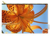 Blue Sky Sunshine Tiger Lily Flowers Giclee Prints Baslee Troutman Carry-all Pouch