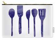 Blue Spoons- Art By Linda Woods Carry-all Pouch