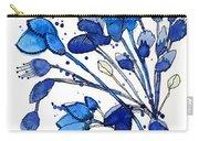 Blue Spray Carry-all Pouch