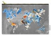 Blue Street Art World Map Carry-all Pouch
