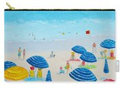Blue Striped Umbrellas Carry-all Pouch