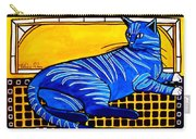 Blue Tabby - Cat Art By Dora Hathazi Mendes Carry-all Pouch