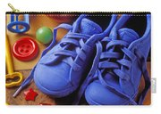 Blue Tennis Shoes Carry-all Pouch by Garry Gay