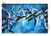 Blue Texture By Madart Carry-all Pouch