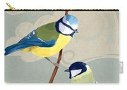 Blue Tit And Great Tit Carry-all Pouch