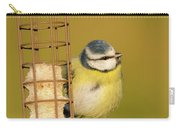 Blue Tit On Feeder Carry-all Pouch