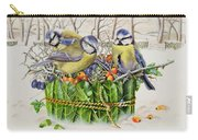 Blue Tits In Leaf Nest Carry-all Pouch