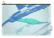 Blue Toned Artistic Feather Abstract Carry-all Pouch