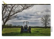 Blue Tractor Green Field Carry-all Pouch