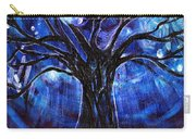 Blue Tree At Night Carry-all Pouch