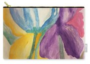 Blue Tulip And Iris Abstract Carry-all Pouch
