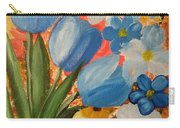 Blue Tulip Trio Carry-all Pouch
