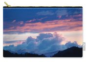 Blue Twilight Clouds Art Prints Mountain Pink Sunset Baslee Troutman Carry-all Pouch