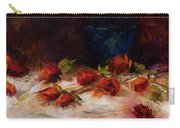 Blue Vase And Red Roses Carry-all Pouch