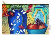Blue Vase With Orange Flowers Carry-all Pouch