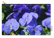 Blue Violets Carry-all Pouch