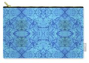 Blue Water Batik Tiled Carry-all Pouch