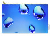 Blue Water Droplets On Glass Carry-all Pouch