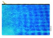 Blue Water Grid Abstract Carry-all Pouch