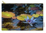 Blue Water Lily Pond Carry-all Pouch