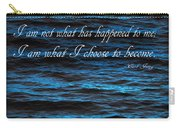 Blue Water With Inspirational Text Carry-all Pouch