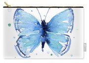 Blue Watercolor Butterfly Carry-all Pouch