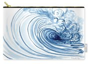 Blue Wave Modern Loose Curling Wave Carry-all Pouch