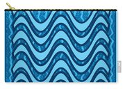 Blue Wave Over Wave Pattern On Gifts Shirts Pillows Tote Bags Phone Cases Shower Curtains Duvet Cove Carry-all Pouch