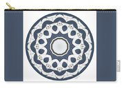 Blue White Mandala Carry-all Pouch