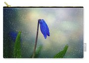 Blue Wild Flower Carry-all Pouch