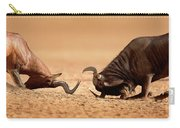 Blue Wildebeest Sparring With Red Hartebeest Carry-all Pouch