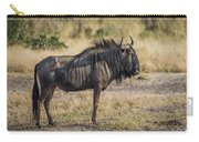 Blue Wildebeest Standing On Savannah Staring Ahead Carry-all Pouch