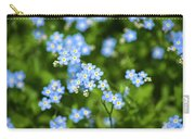 Blue Wildflowers Forget Me Nots Carry-all Pouch